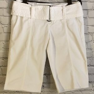 London Jean white belted shorts 6